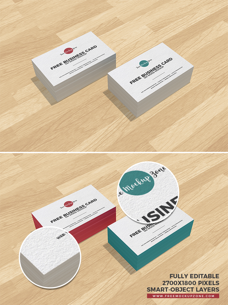 Free business cards on wood mockup magicingreecefo Images