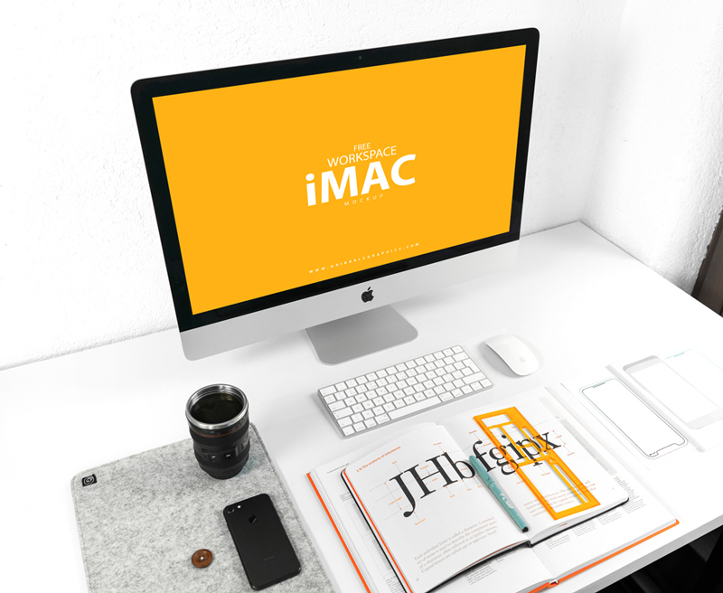Free-iMac-on-Designer-Workspace-Mockup
