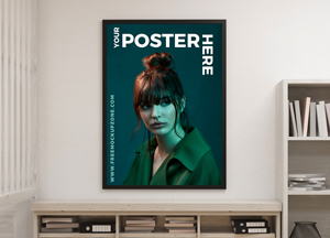 Free Creative Interior Poster Mockup For Designers