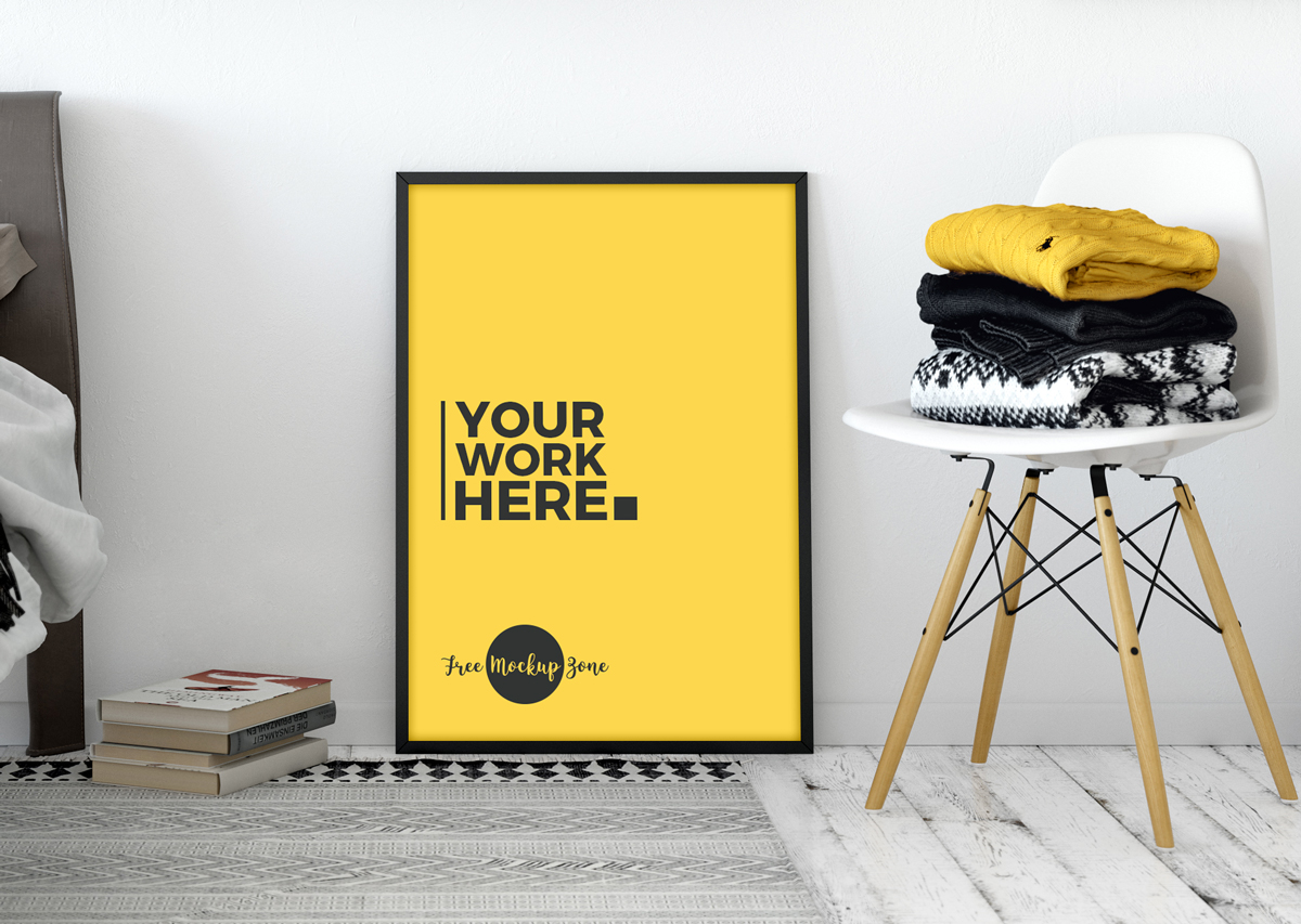 Free-Room-Interior-Standing-Poster-Mockup-2018