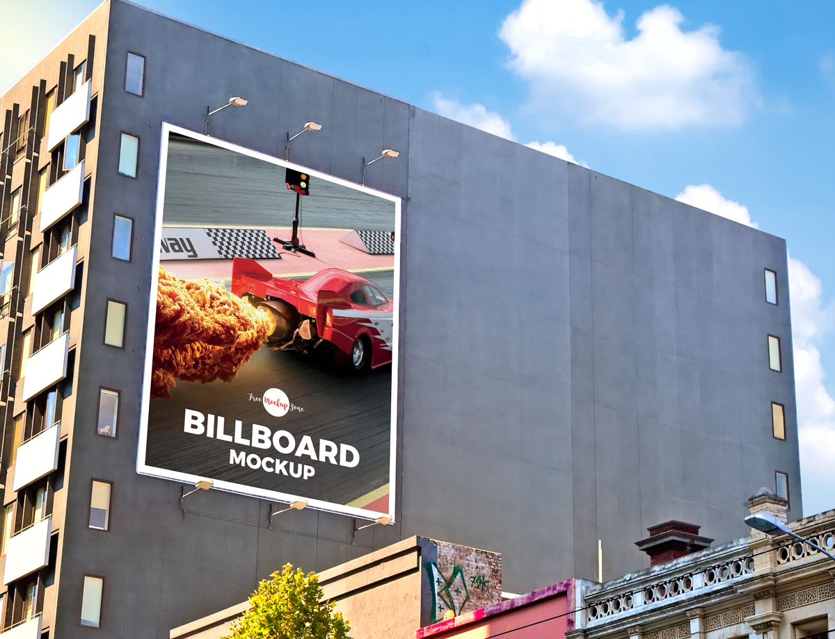 Free-Outdoor-Building-Wall-Advertisement-Billboard-Mockup-PSD-2018
