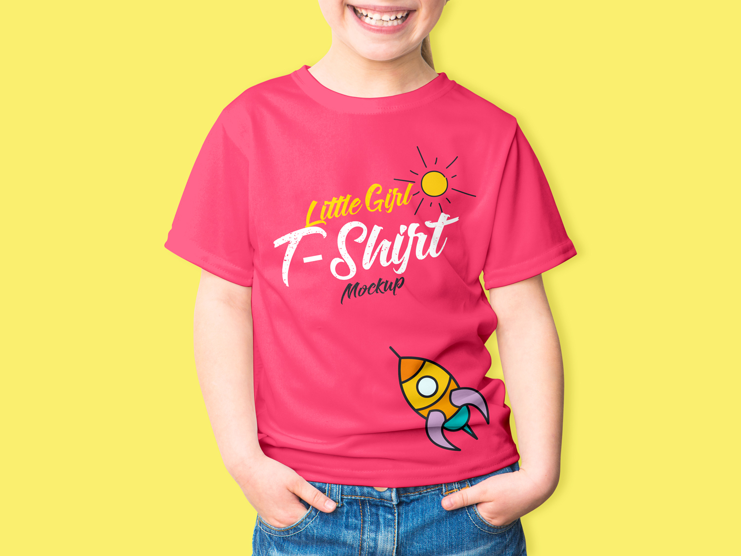 Free-Little-Girl-T-Shirt-Mockup-PSD-2018