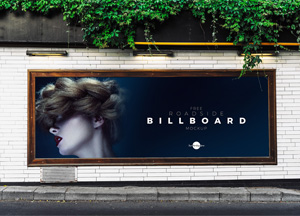 Free Roadside Advertisement Billboard Mockup PSD 2018