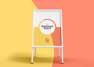 Free Sandwich Board Mockup For Outdoor Restaurant Advertisement 2018