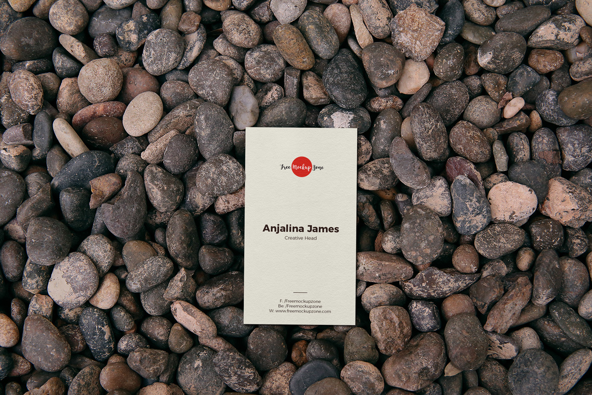 Free-Business-Card-on-Stones-Mockup-PSD