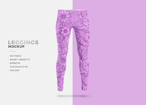 Free PSD Laddies Fashion Leggings Mockup