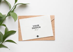 Free Elegant PSD Invitation Card Mockup