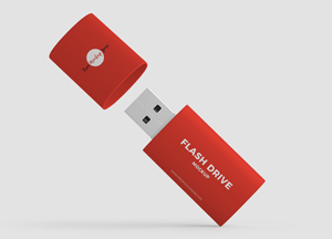 Free Flash Drive Mockup PSD