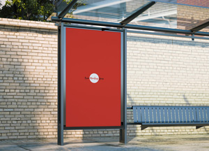 Free Bus Shelter Mockup For Outdoor Advertisement