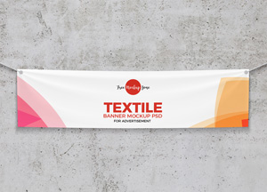 Free Elegant Textile Banner Mockup PSD For Advertisement 2018