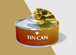 Free Open Tin Can Mockup PSD For Presentation 2018