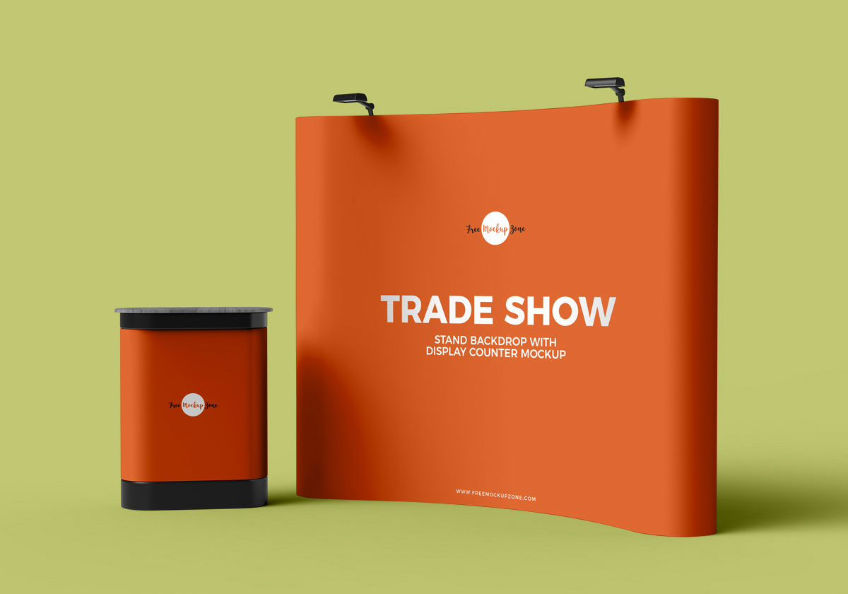 Free-Trade-Show-Banner-Stand-Backdrop-With-Display-Counter-Mockup-PSD-600