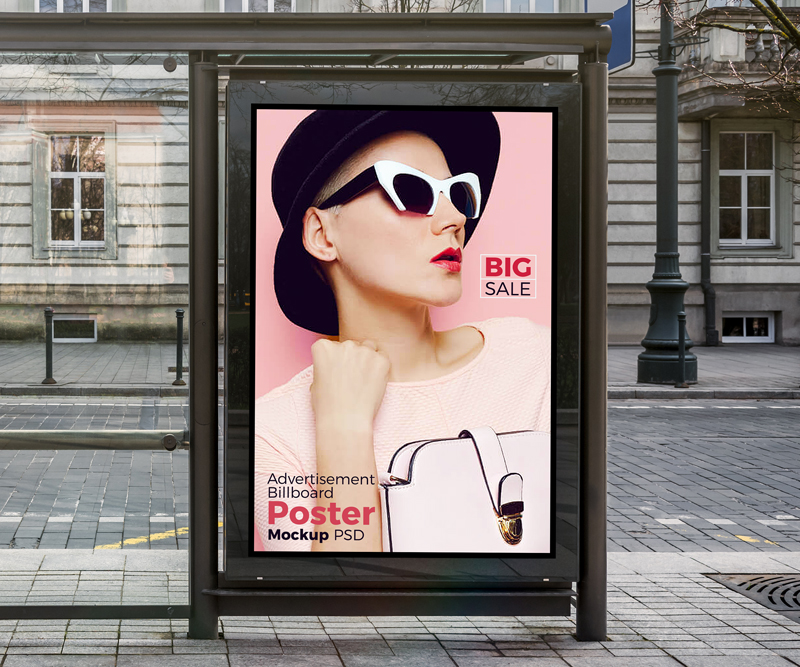 Free-Bus-Shelter-Vertical-Billboard-Poster-Mockup-PSD