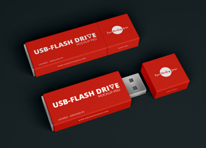 Free Flash Drive-USB Mockup PSD 2018