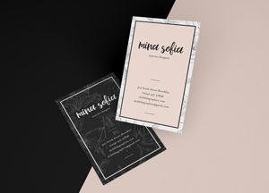 Free Stylish Floating Business Card Mockup PSD Template