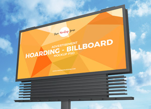 Free Advertisement Hoarding-Billboard Mockup PSD 2019