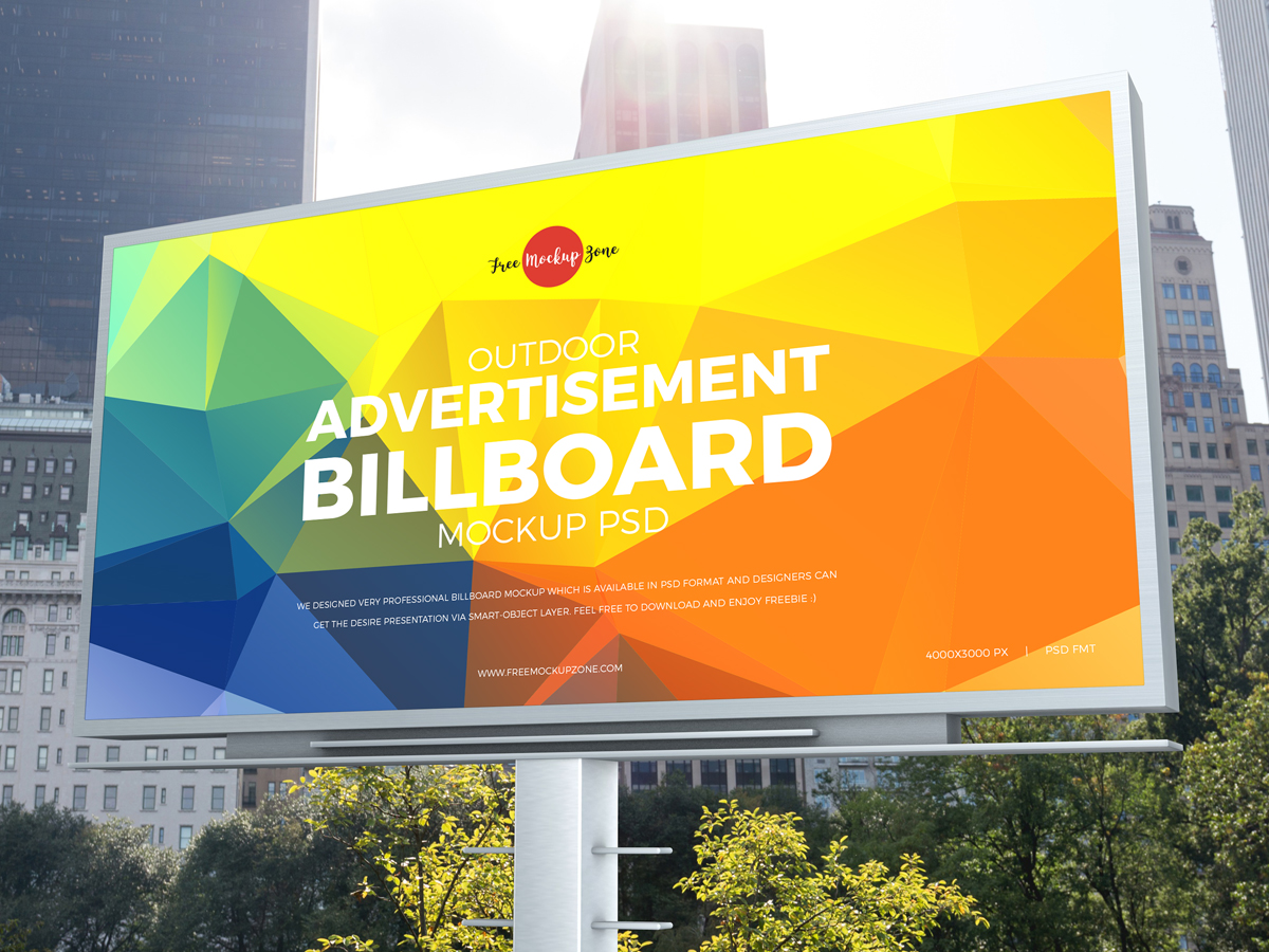 Free-City-Outdoor-Advertisement-Billboard-Mockup-PSD-2019-600