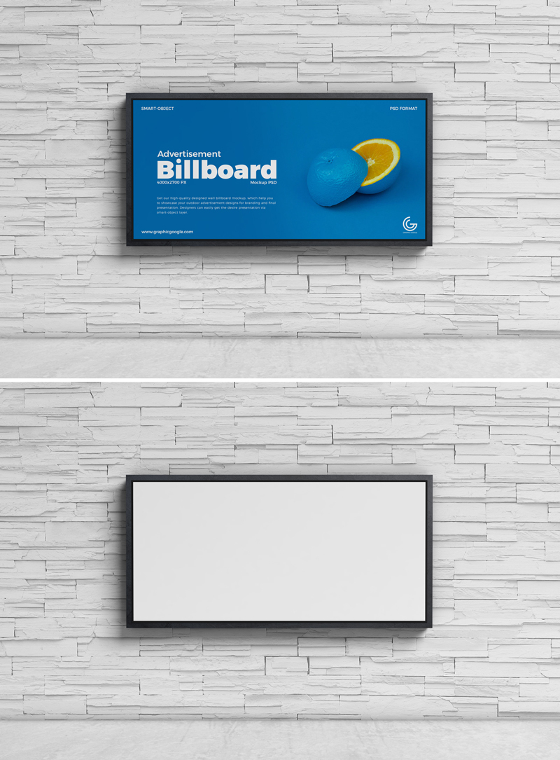Free-Fancy-Street-Wall-Advertisement-Billboard-Mockup-PSD-2019