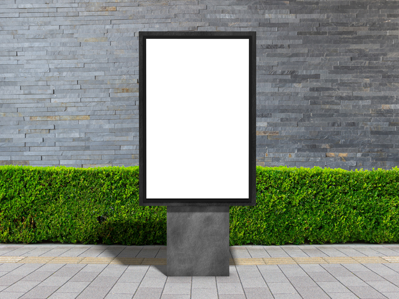 Free-Outdoor-Advertisement-Stand-Billboard-Mockup-PSD-2019-700