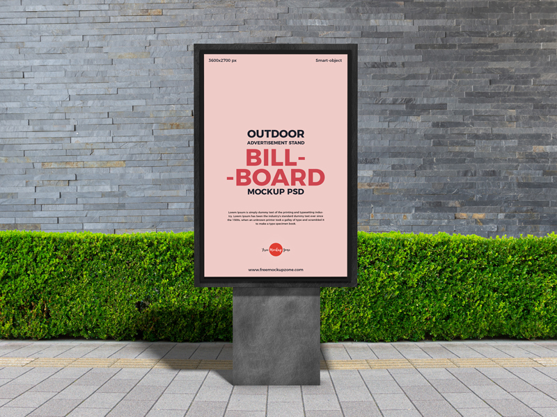 Free-Outdoor-Advertisement-Stand-Billboard-Mockup