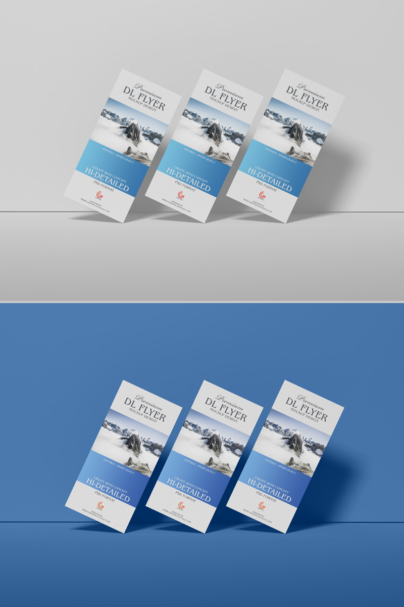 Free Brand Premium Dl Flyer Mockup Design For Presentation