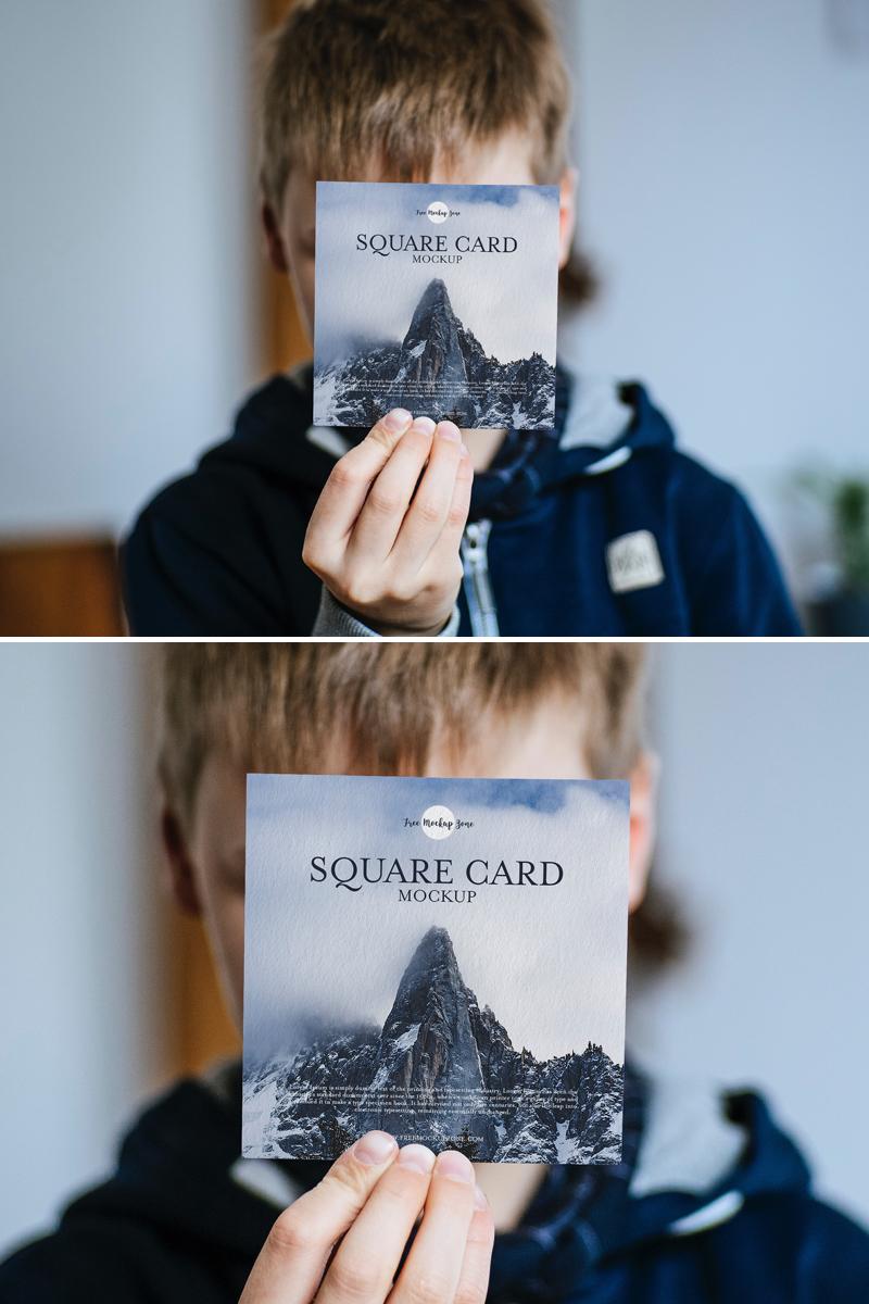 Free-Little-Boy-Showing-Square-Card-Mockup-PSD-600