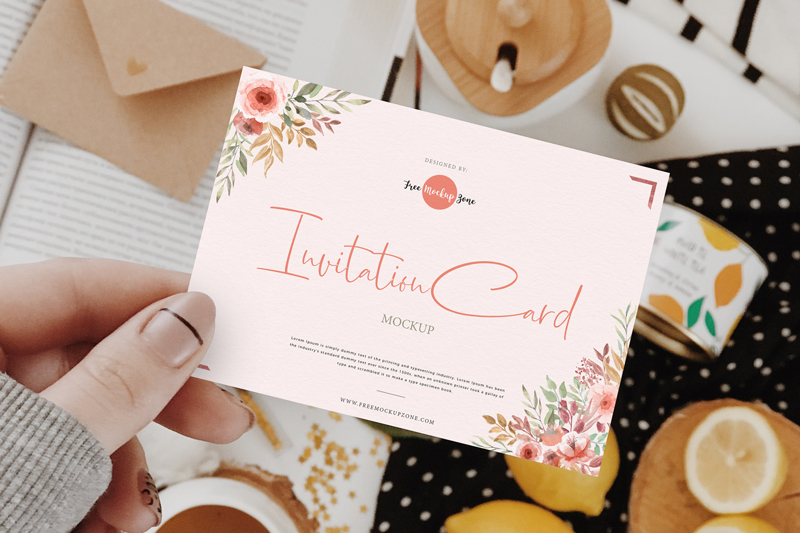 Free-Girl-Showing-Invitation-Card-Mockup