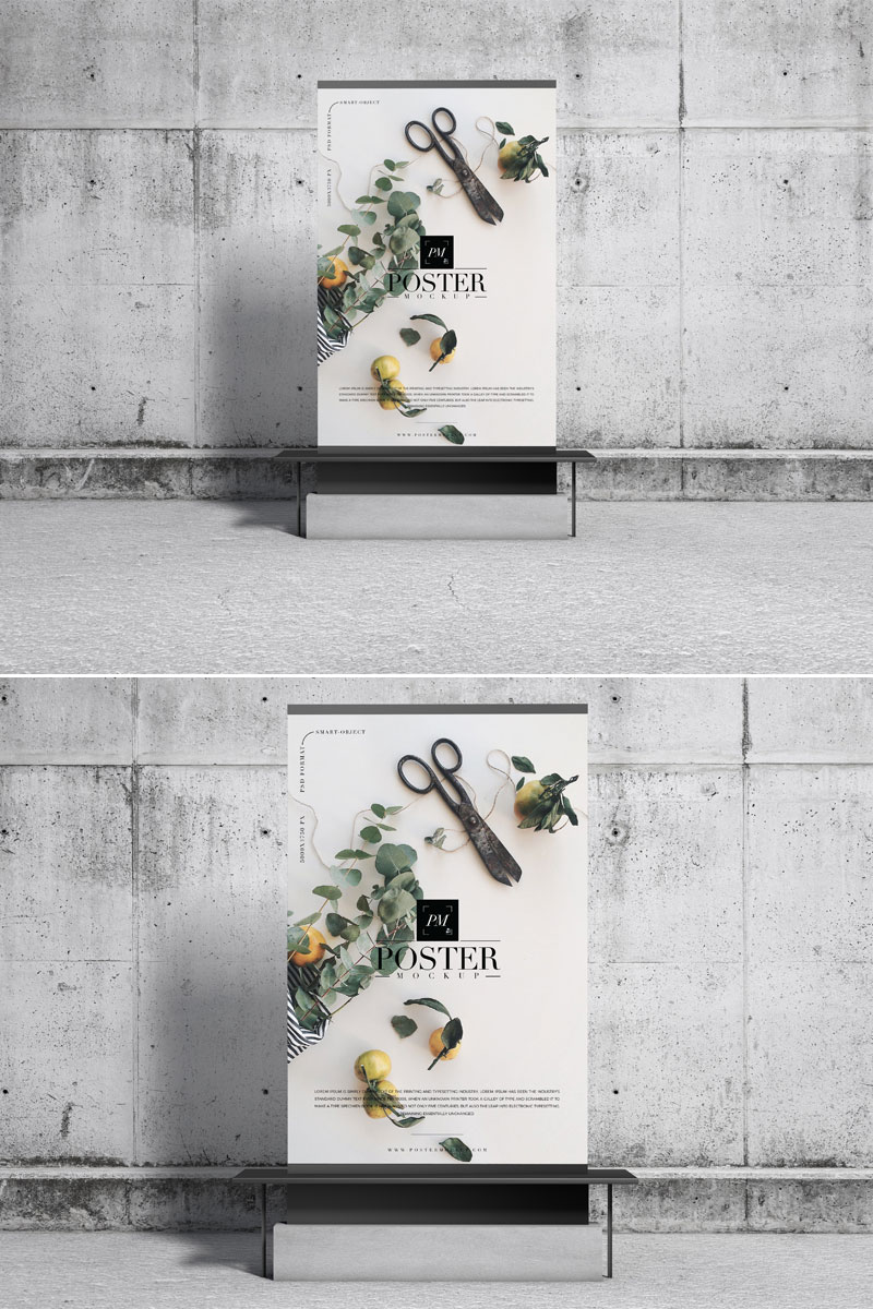 Free-Advertising-Display-Poster-Mockup-Design
