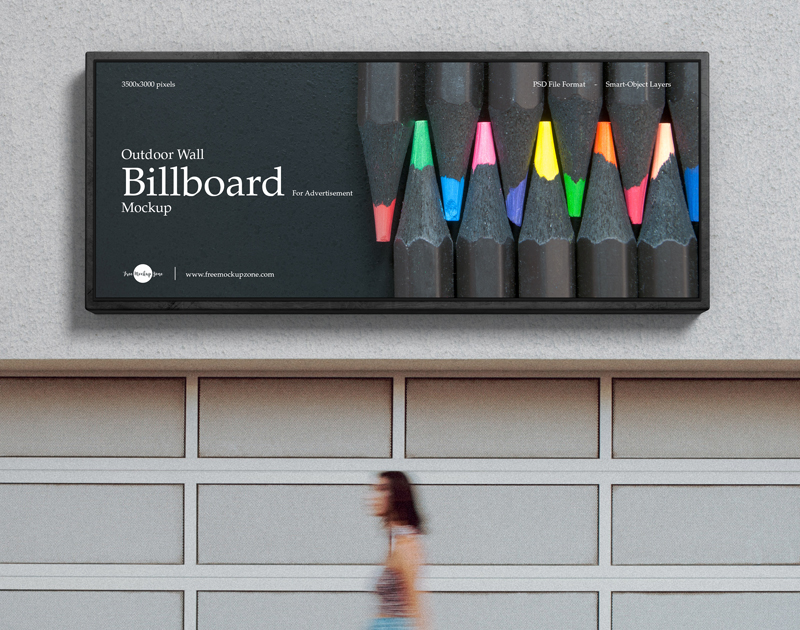 Free-Outdoor-Wall-Billboard-Mockup-For-Advertisement-600