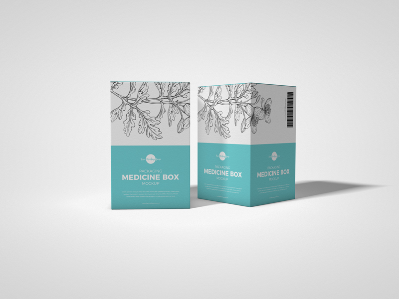 Free-Packaging-Medicine-Box-Mockup