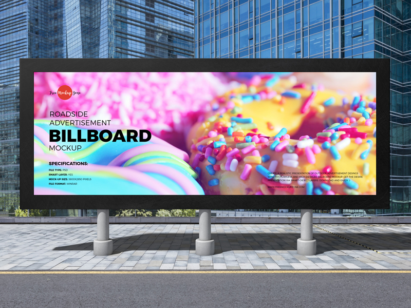 Free-Roadside-Advertisement-Billboard-Mockup-600