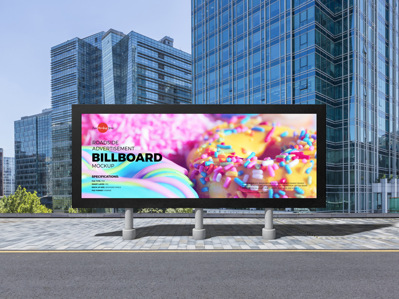 Free-Roadside-Advertisement-Billboard-Mockup