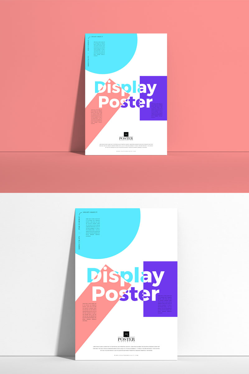Free-Front-View-Display-Poster-Mockup