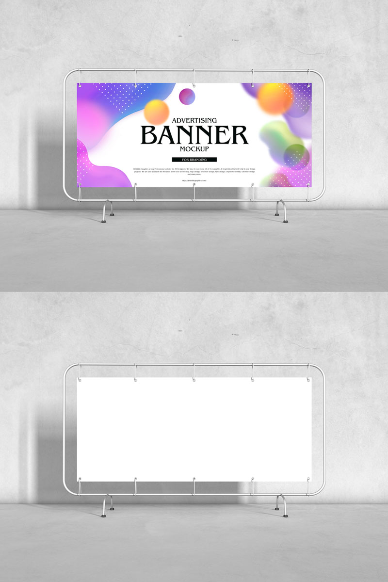 Free-Advertising-Floor-Stand-Banner-Mockup