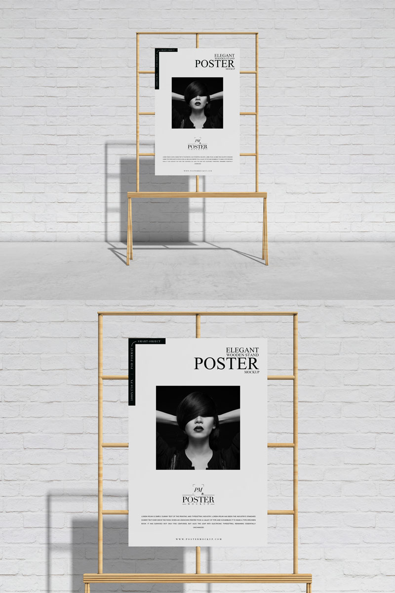 Free-Front-View-Wooden-Stand-Poster-Mockup-For-Branding