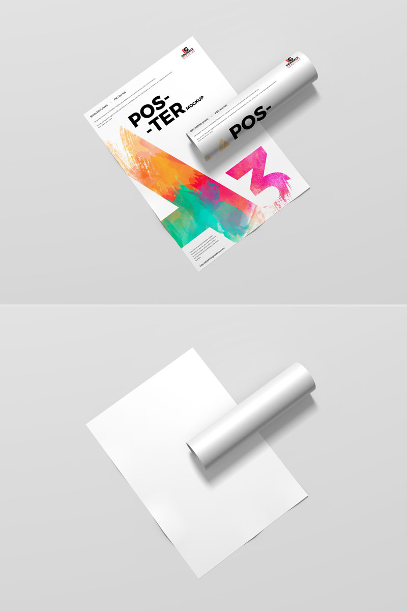 Free-Branding-A3-Size-Poster-Mockup-PSD