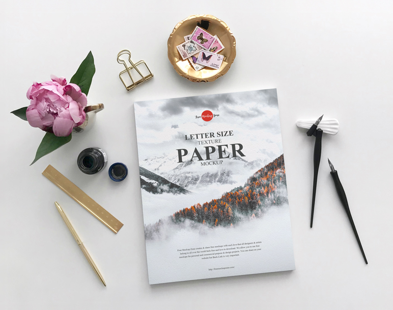 Free-Letter-Size-Texture-Paper-Mockup-For-Branding