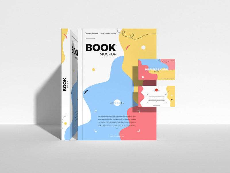 Free-Book-With-Business-Card-Mockup-600