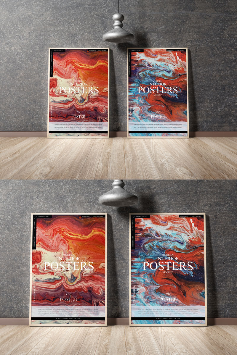 Free-Interior-Posters-Placing-on-Wooden-Floor-Mockup