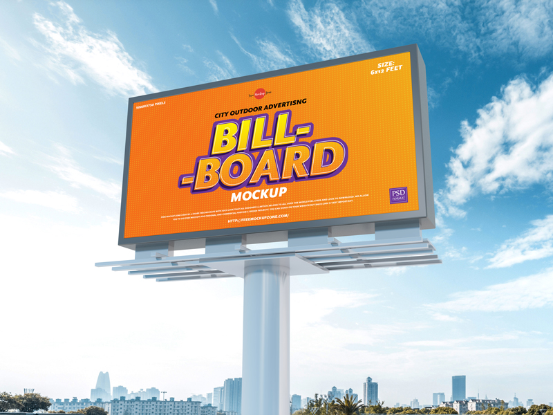City Outdoor Billboard Mockup-www.mockuphill.com