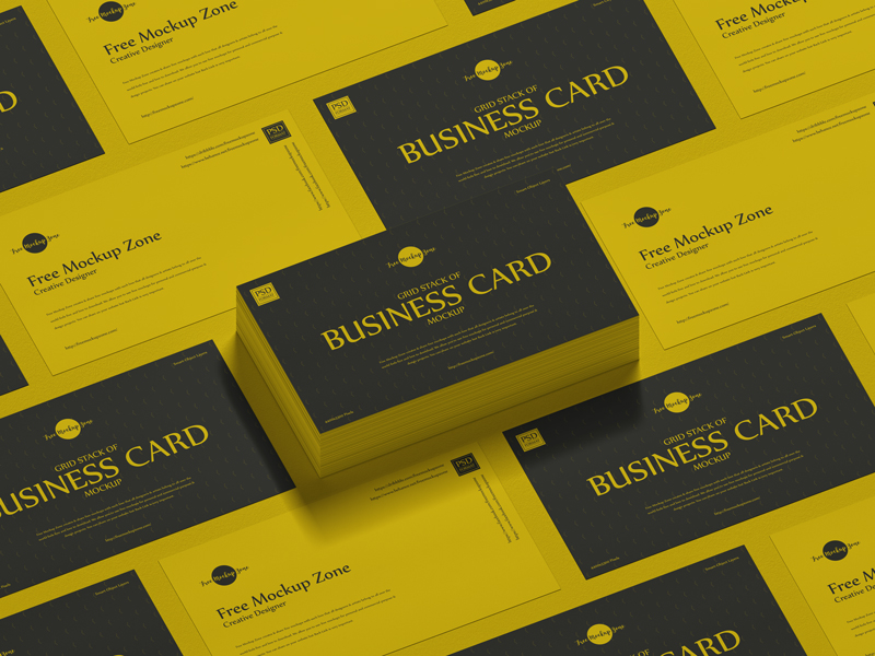 Free-Grid-Stack-of-Business-Card-Mockup-600