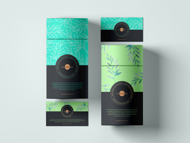 Free-Business-Cards-With-Paper-Tube-Box-Mockup-600