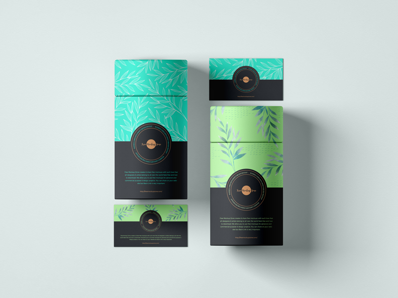 Free-Business-Cards-With-Paper-Tube-Box-Mockup