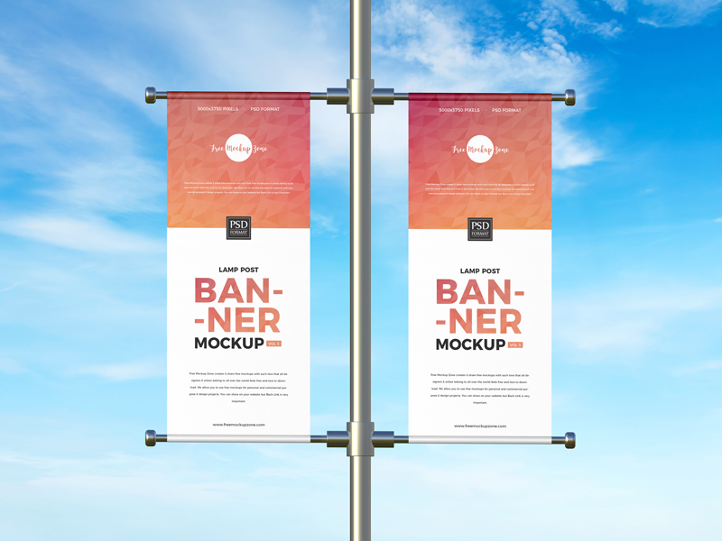 Free-Advertising-Lamp-Post-Banner-Mockup