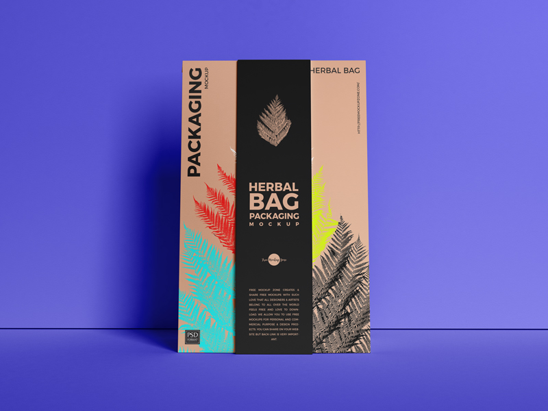Free-Front-View-Herbal-Bag-Packaging-Mockup