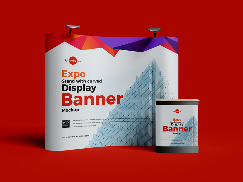 Free-Expo-Stand-With-Curved-Display-Banner-Mockup