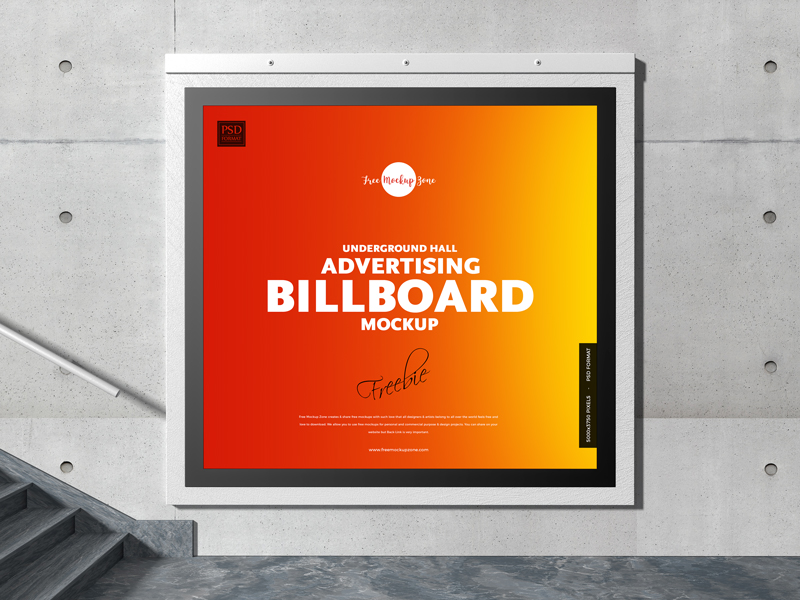 Free-Underground-Hall-Advertising-Billboard-Mockup