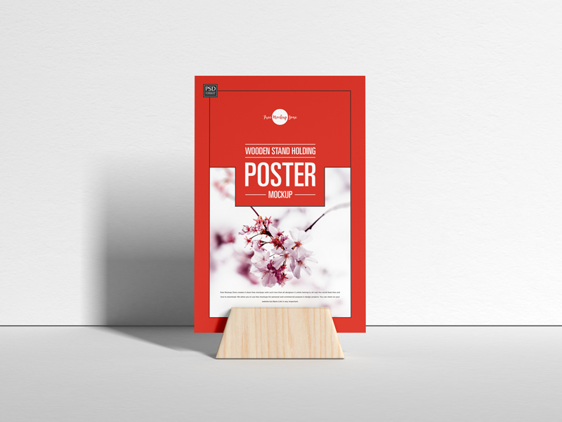 Free-Wooden-Stand-Holding-Poster-Mockup-600