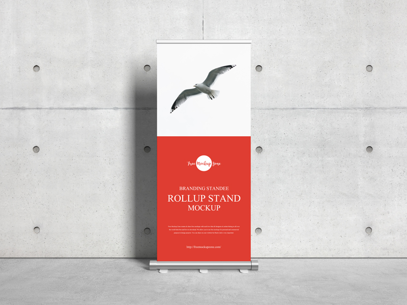 Free-Branding-Standee-Roll-Up-Stand-Mockup