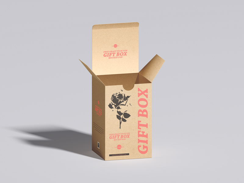 Free-Kraft-Tuck-Top-Gift-Box-Mockup-PSD-600
